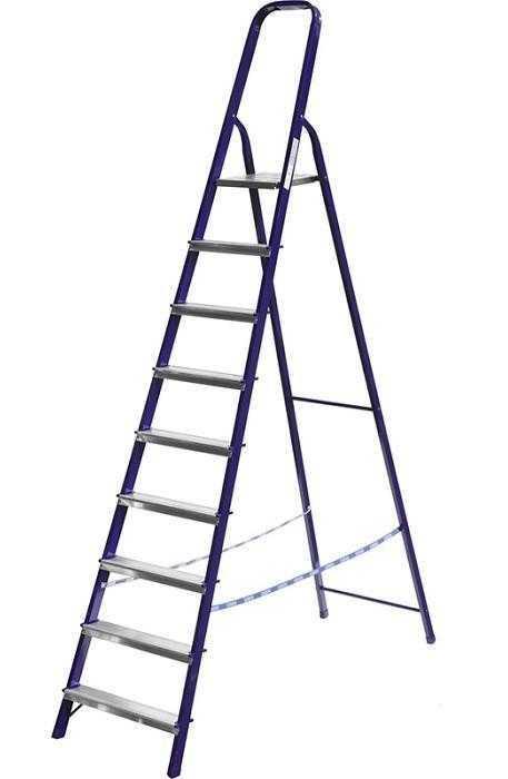 Лестница-стремянка СИБИН стальная (Лестница-стремянка  СИБИН стальная, 10 ступеней, 208 см)