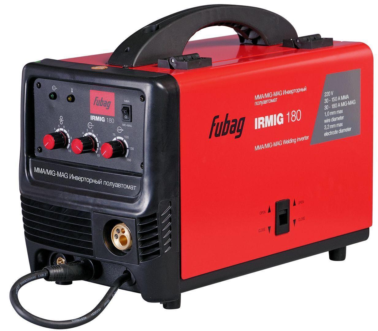 Сварочный полуавтомат инвертор Fubag IRMIG 180 (31432)+ горелка FB 250 3м (68443)