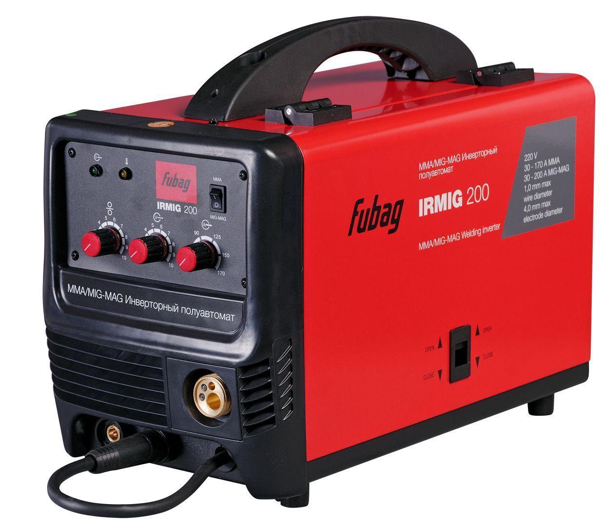 Сварочный полуавтомат инвертор Fubag IRMIG 200 (38609)+ горелка FB 250 3м (38443) арт.38609.2