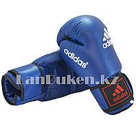 Боксерские перчатки OZ-12 синие с черно-синей застежкой, фото 1