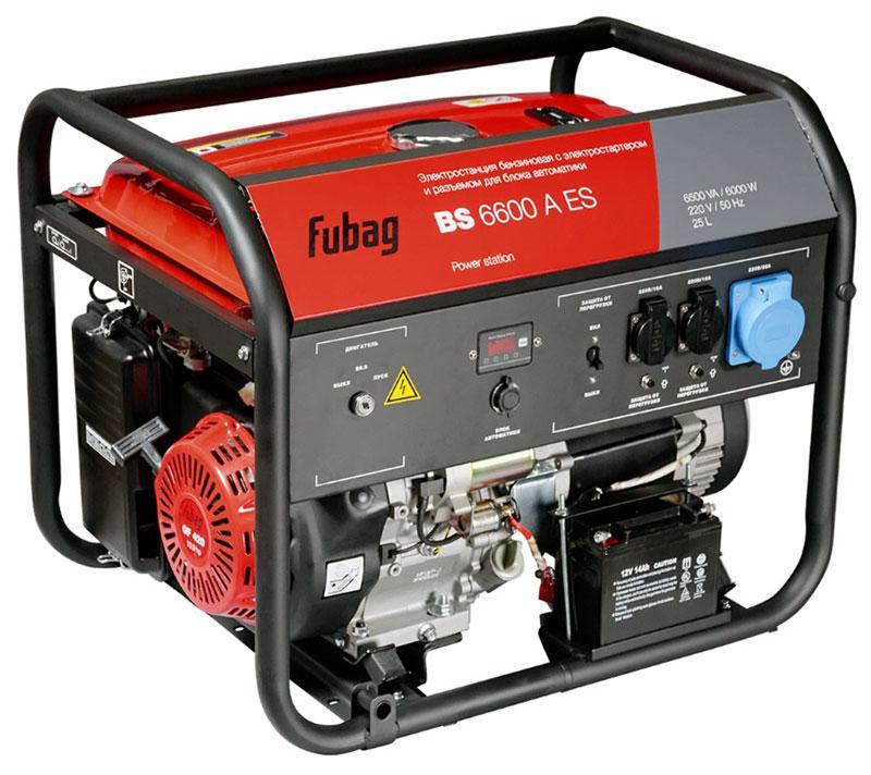 Генератор бензиновый Fubag BS 6600  A ES арт.838204