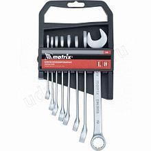 Набор ключей комбинированных 6-19мм 8шт.матовый хром Матрикс 15408