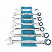 Набор ключей комбинированных с трещеткой GROSS,8-19мм,7 шт.14890