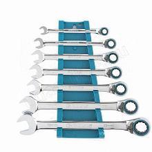 Набор ключей комбинированных с трещеткой,реверсивные GROSS,8-19мм,7 шт.14892