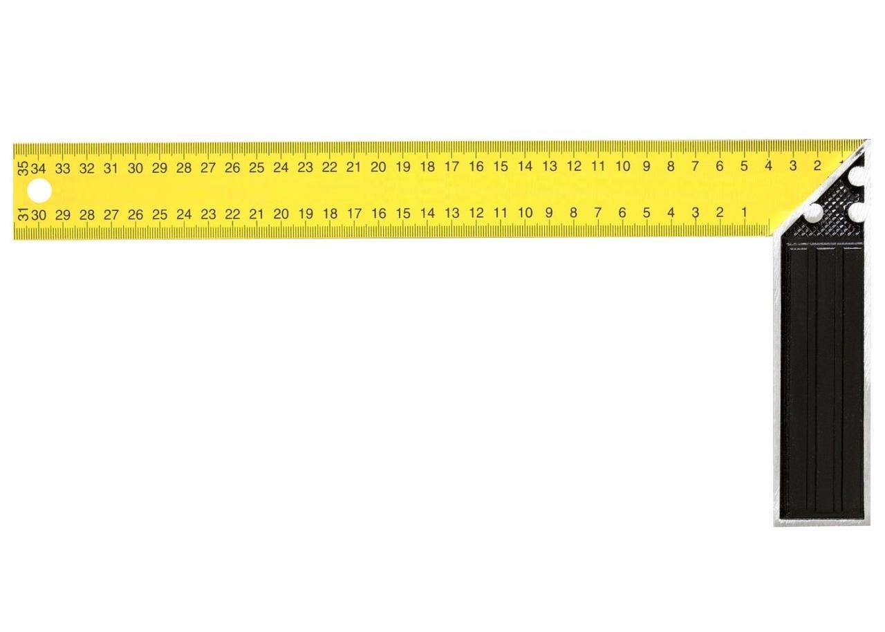 Угольник столярный желтый 200мм Курс арт.19381