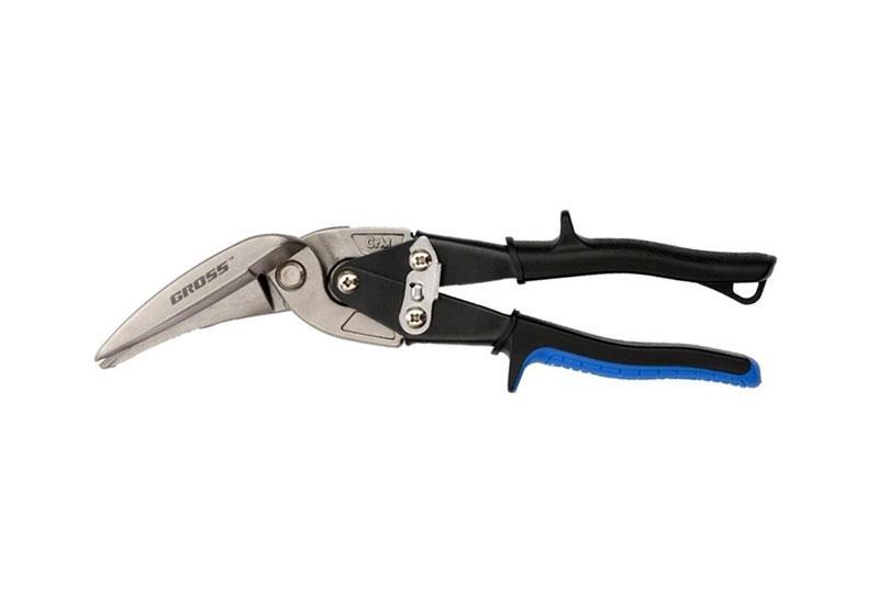 Ножницы по металлу 270мм прямой и правый проходной рез,обрезиненные рукоятки GROSS 78333