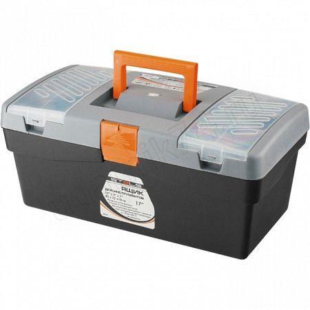 """Ящик для инструмента 17""""420 х220 х180мм пластик STELS 90704"""