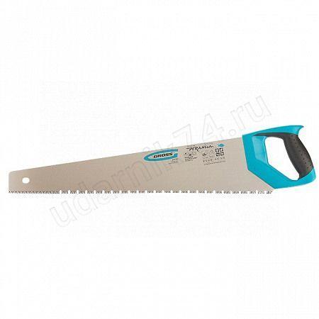 """Ножовка по дереву 550мм""""PIRANHA""""зуб 3D,2-ух комп.рукоятка GROSS 24119"""