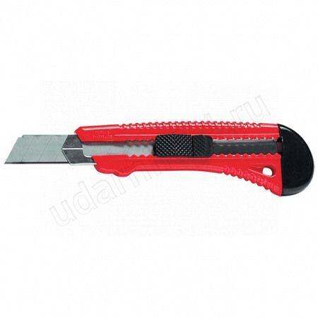 Нож 18мм выдвижное лезвие,метал.направляющая,Матрикс 78918