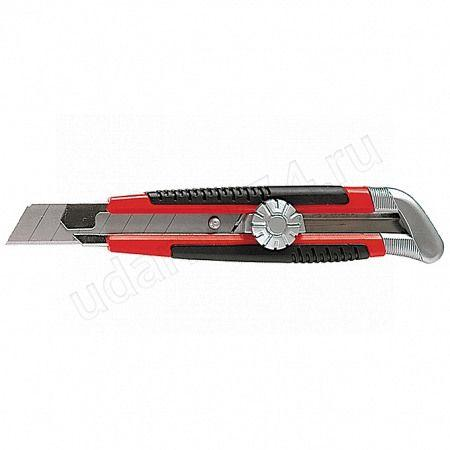 Нож 18мм выдвижное лезвие,метал.направляющая,винтовой фиксатор Матрикс 78914
