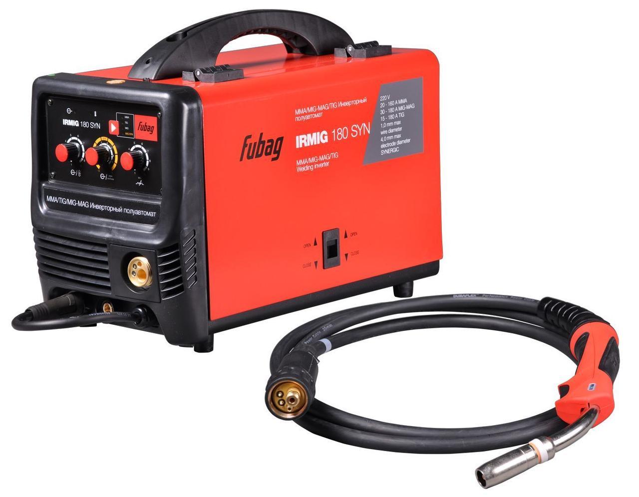 Сварочный полуавтомат инвертор Fubag IRMIG 180 SYN (31446)+ горелка FB 250 3м (68443)