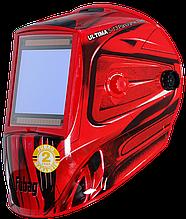 Маска сварщика Fubag Хамелион ULTIMA 5-13 Panoramic RED (зона обзора 100мм х 93мм)