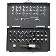 Набор бит,магнитный адаптер сталь S2 в пласт.кейсе,32пред.GROSS 11363