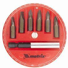 Набор бит,магнитный адаптер для бит,сталь 45Х,7 пред.в плас.закрытом боксе Матрикс 11392