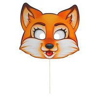 Фотобутафория 'Лиса', маска на палочке (комплект из 10 шт.)