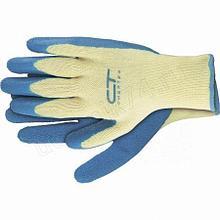 Перчатки хлопчатобумажные,10 класс вязки,латексное рельефное покрытие р-р XL Сибртех 67753