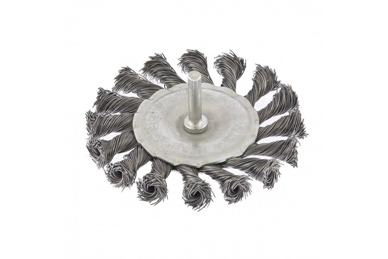 Щетка для дрели 100мм.крученая металлическая проволка Матрикс 74432