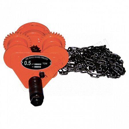 Каретка для тали ручной 2т.длина цепи 2.5м,шерина швеллера 88-130мм арт.519845