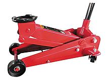 Домкрат гидравлический подкатной,быстр.подъем,3т 130-490мм SPARTA арт.510105