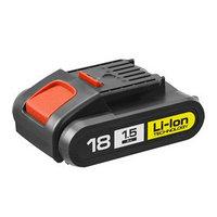 Батарея аккумуляторная 'ЗУБР' АКБ-18-Ли 15М1, 18 В, Li-Ion, 1.5 Ач