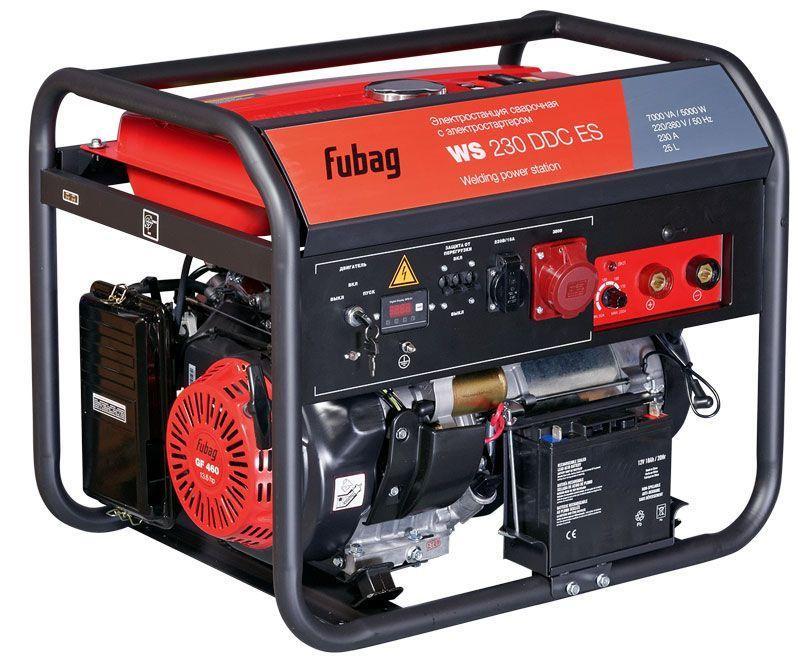 Генератор сварочный Fubag WS 230 DDC ES бензиновый с электростартером (380-220) арт.838238