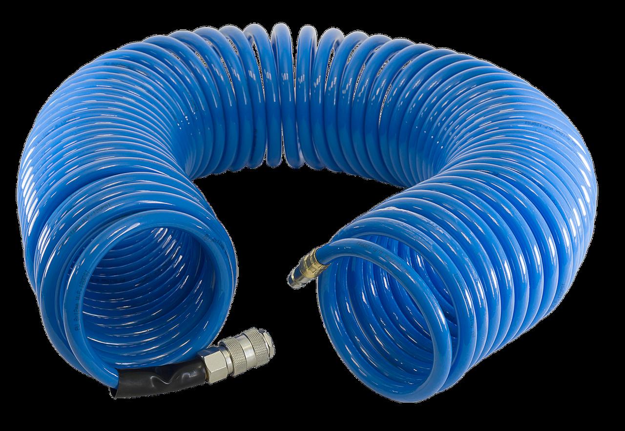 Шланг спиральный с фитингами Fubag  рапид полиуретан 15 бар 8 х 12мм 20м 170307