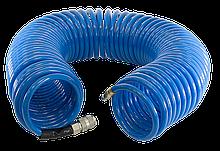 Шланг спиральный с фитингами Fubag  рапид полиуретан 15 бар 6 х 10мм 20м 170303