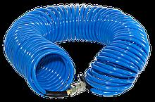 Шланг спиральный с фитингами Fubag  рапид полиуретан 15 бар 6 х 10мм 15м 170302