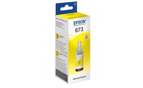 Чернила Epson C13T67344A L800/L805/1800/810/850 желтый
