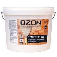 Штукатурка декоративная OZON 'Травертин 300' акриловая 16 кг