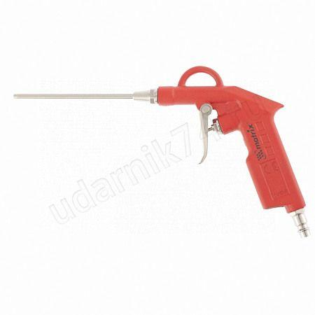Пистолет продувочный с удлиненным соплом 135мм,пневматический Матрикс 57332