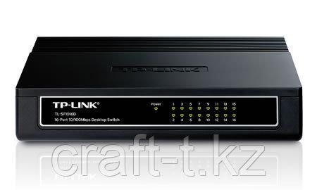 Коммутатор TP-Link TL-SF1016D,16 портов, 10/100M