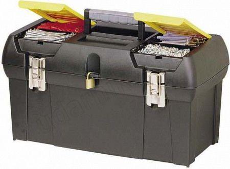 Ящик для инструмента с 2я встроенными органайзерами и метал.замками STANLEY 1-92-066