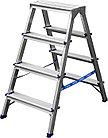Лестница-стремянка СИБИН двухсторонняя  (Лестница-стремянка двухсторонняя алюминиевая, СИБИН 38825-04, 4 ступени)