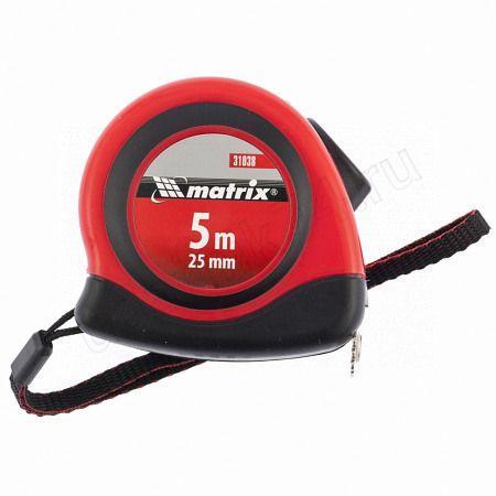 Рулетка 5м х25мм Status autostop magnet,двухкомпонентный корпус,зацеп с магнитом Матрикс 31038