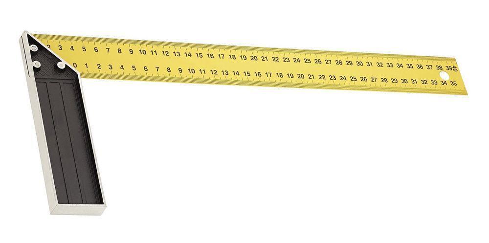 Угольник столярный желтый 400мм Курс арт.19385
