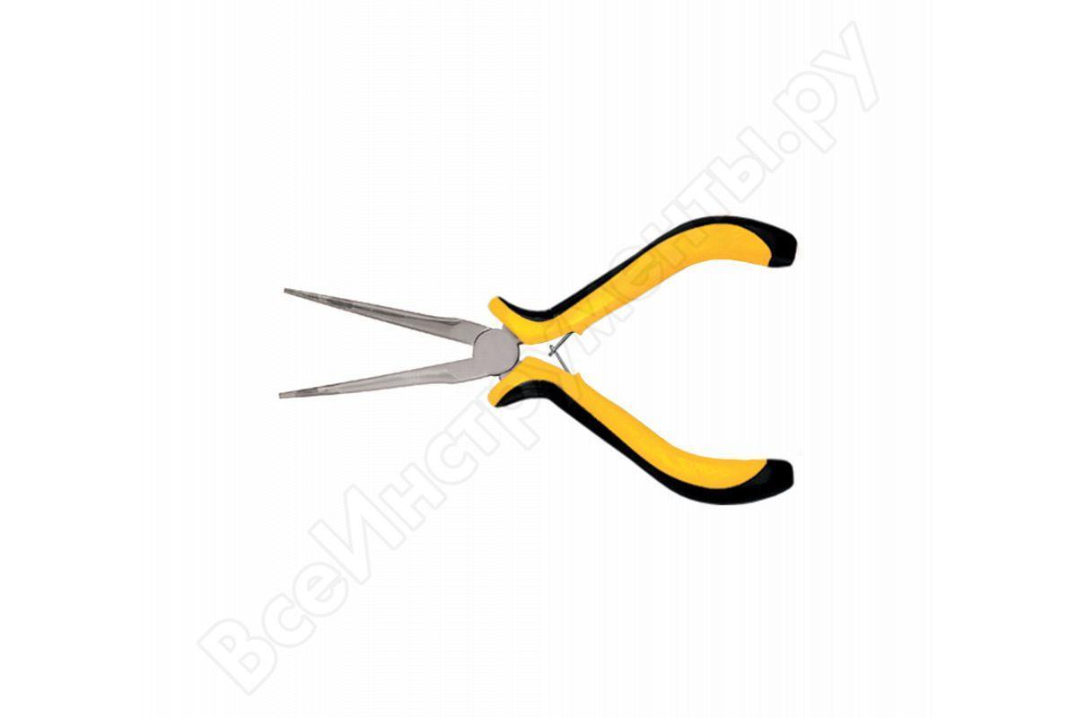 """Тонконосы """"Мини""""удлинен.Профи,черно-желтые мягкие ручки 150мм FIT арт.51636"""