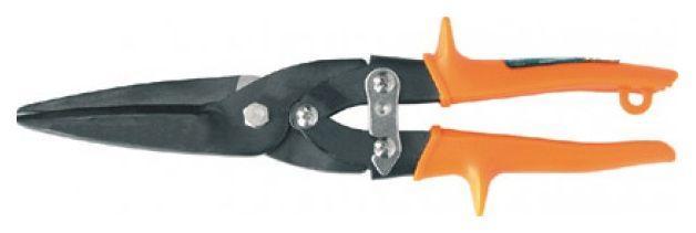 Ножницы по металлу 275мм пряморежущие,пласт. рукоятки FIT 41527