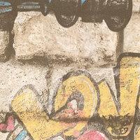 Обои горячее тиснение на флизелине АВАНГАРД 45-221-03 Graffiti, 1,06x10 м (комплект из 6 шт.)