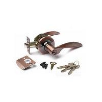 Ручка-защёлка APECS 8020-01-АС, с ключом, с фиксатором, цвет медь