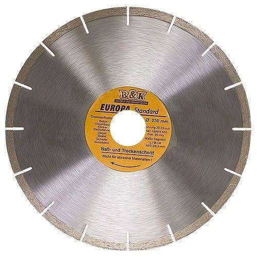 Диск алмазный 115 х22.2мм EUROPA сегментный сухая резка 73161