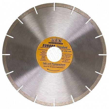 Диск алмазный 230 х22.2мм EUROPA сегментный сухая резка 73171