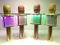 Микрофон караоке Bluetooth Блютуз МП3 SD USB с аккумулятором и подсветкой колонка УС 87. Алматы