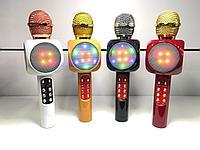 Микрофон караоке Bluetooth Блютуз МП3 USB подсветка. Алматы