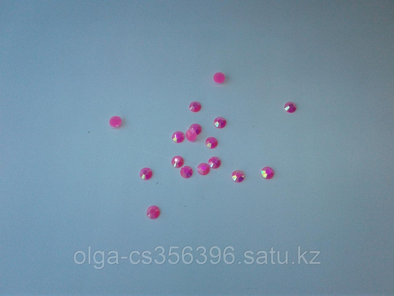 Стразы пластик. Перламутр. 6 мм.  Creativ 2554