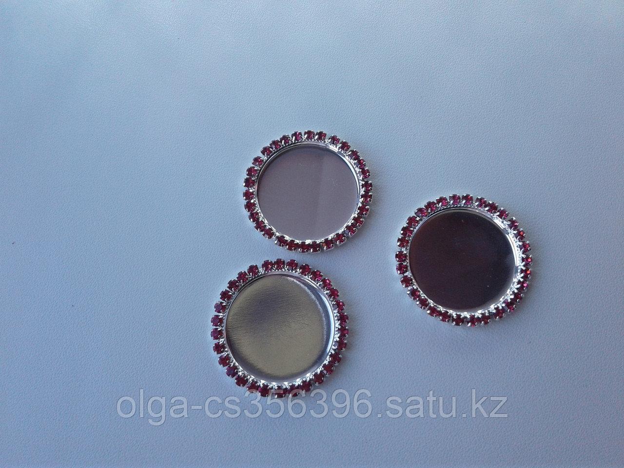 Декоративные крышки для бантов. 25 мм.  Creativ 2558