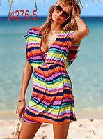 Пляжные платья с V образным вырезом