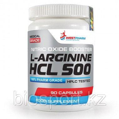 L-Arginine HCL 500,  90 капсул по 500 мг, West Pharm.