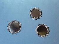 Рамки для кабошонов. Металл. Золото. Размер внутри 25 мм. Creativ 2571