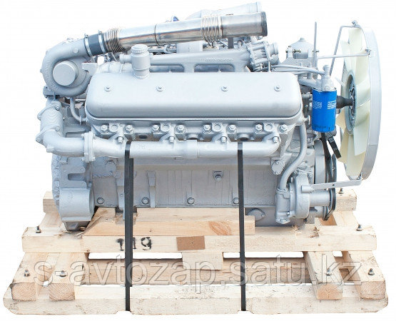 Двигатель (индивидуальной сборки) на блоке НОВОГО ОБРАЗЦА без кпп и сцепления вал номинал ЯМЗ 7512-1000186-04